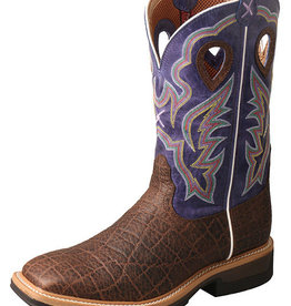 Twisted X Men's Twisted X Lite Cowboy Workboot, Brown/Purple
