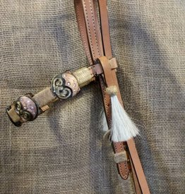 Alamo Square Cut Headstall Natural Horse