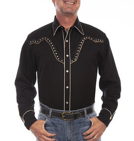 Scully Leather Men's Scully Night Hawk Western Shirt
