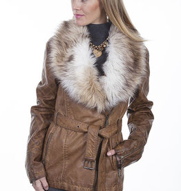 Scully Leather Women's Scully Faux Fur Trim Jacket