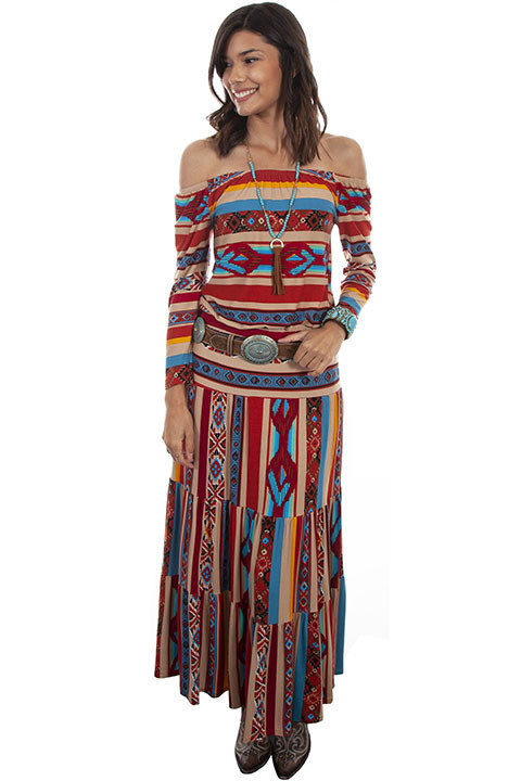 Scully Leather Women's Scully Serape Maxi Skirt- Medium