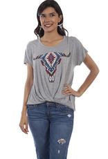 Scully Leather Women's Scully Longhorn Tee