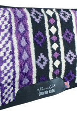 Professional's Choice SMx Heavy Duty Saddle Pad: Vision, Black & Purple