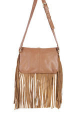 Scully Leather Handbag - Smooth Leather with Fringe