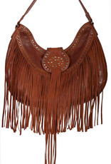 Scully Leather Handbag - Studded with Fringe