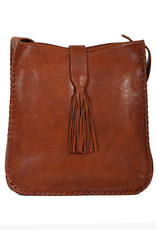 Scully Leather Handbag - Leather with Whip Stitch