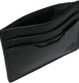 Scully Leather Credit Card Holder - Scully Black Leather