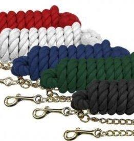 Showman Cotton Lead w/Chain Various Colors