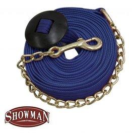 Showman Cotton Lunge Line w/Chain - Royal Blue