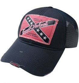 Good Ole Gal Ball Cap Pink Navy Adult