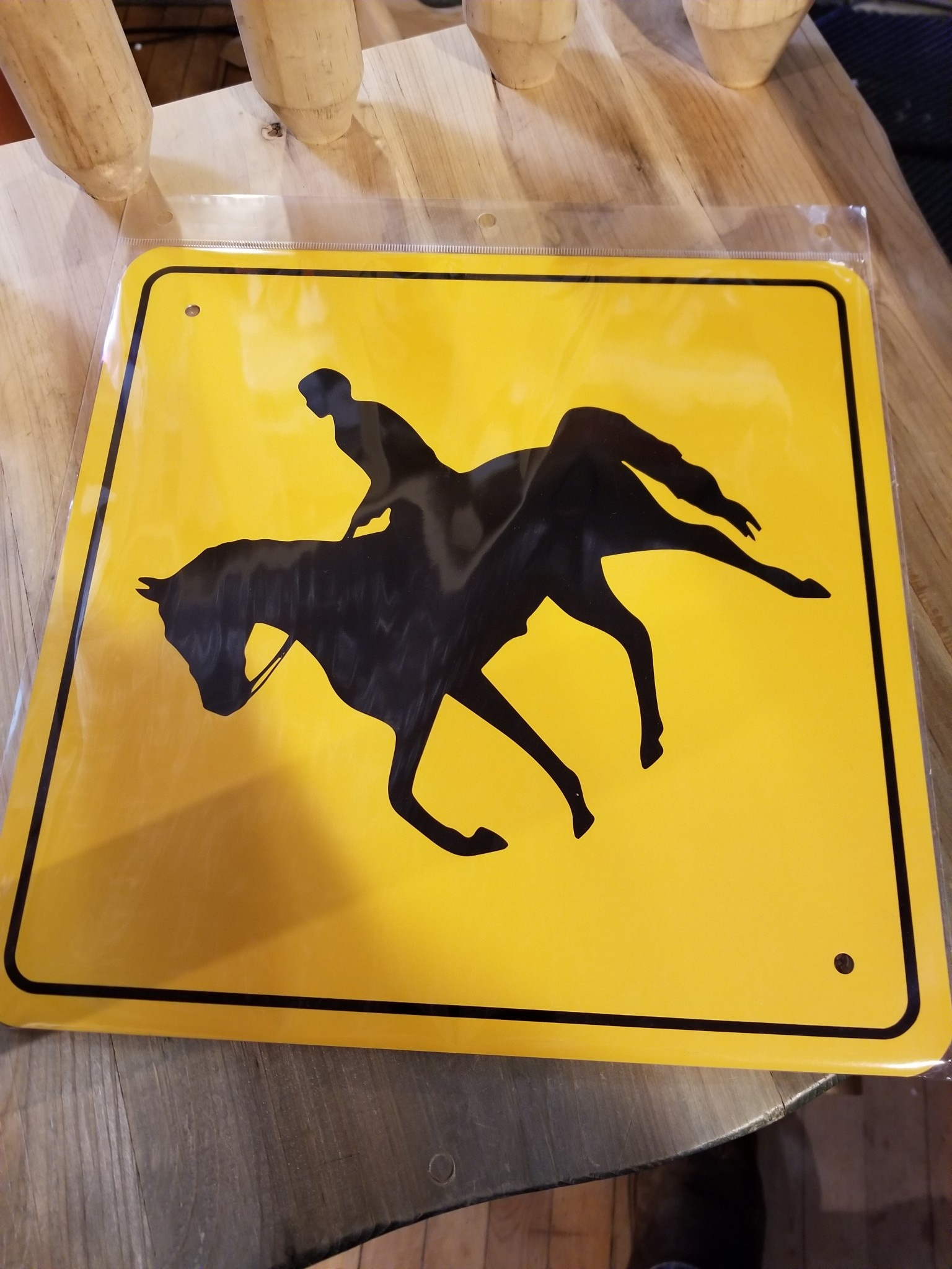 "Horse Crossing - Yellow Diamond - 12""x12"""