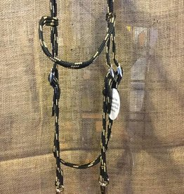Triple E Flat Braid Browband Headstall w/Snaps 5/8""