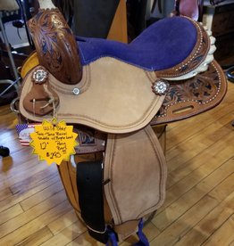 "12"" PONY BAR Wild Star Two-Tone Barrel Saddle (Purple)"