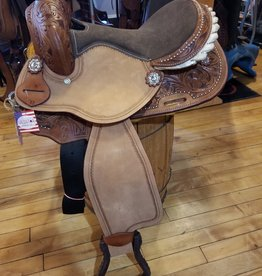 "12"" PONY BAR Wild Star Two-Tone Barrel Saddle (Brown)"