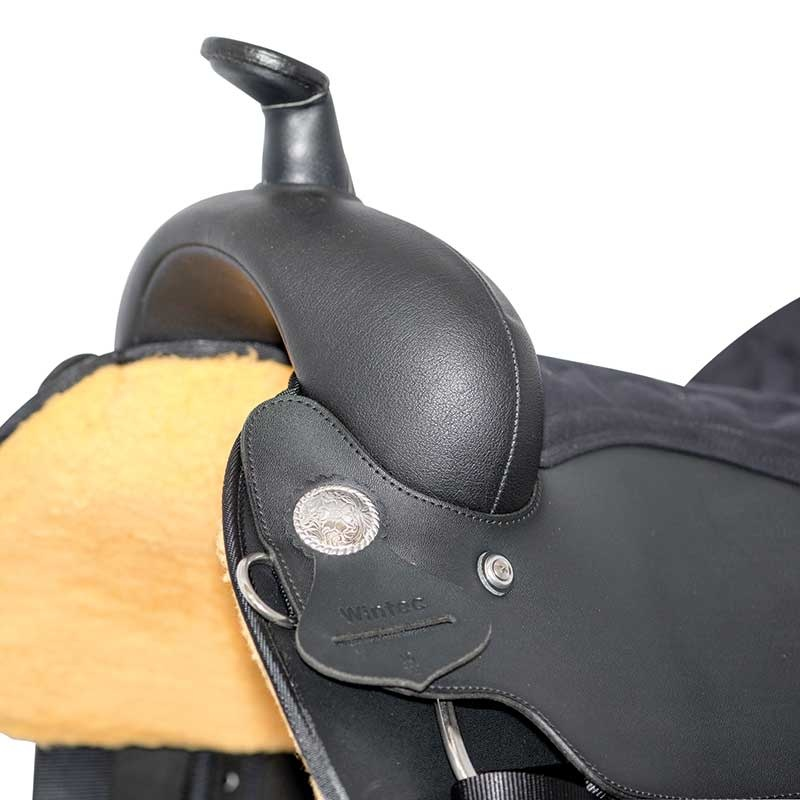 "Wintec 15"" FQHB Wintec Synthetic Saddle w/EZ Fold Fender - Black"