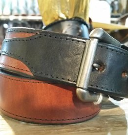 Rockmount Adult - Tan Belt w/Black Billets