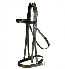 Tough-1 Bridle - English Jumping Hack, Horse Size Brown