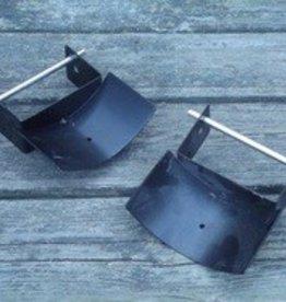 Metal Jump Cups - Pair, Black