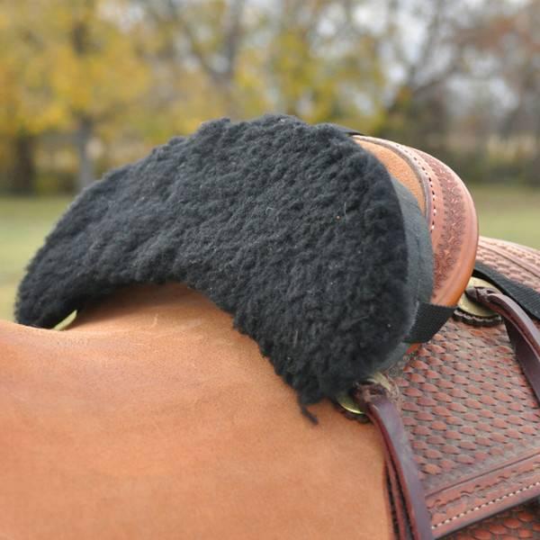 EquiBrand Fleece Seat Shrinker Black OS