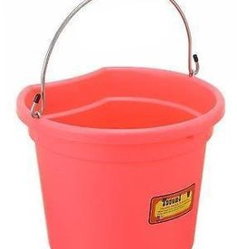 Tough-1 Flat Back Bucket pink 8qt
