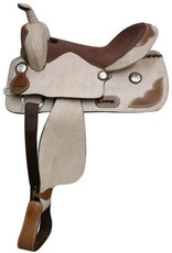 "Showman 16"" FQHB Roughout Trail Saddle w/Tooling"