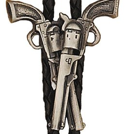 WEX Bolo Tie - Crossed Pistols