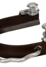 Showman Antique Brown Sidewinder Bumper Spur - Adult