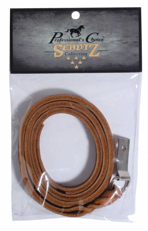 Plaited Saddle Strings with Concho Tie (Brown)