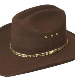 WEX WEX Faux Felt Cattlemans Hat (Band Colors May Vary)