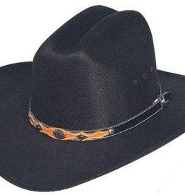 WEX WEX Faux Felt Cowboy Hat w/ Concho Hat Band - Black