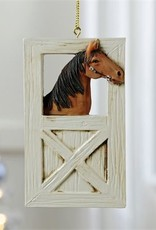 Giftcraft Inc. Ornament - Horse & Stable Design - 2.4X4.5(in)