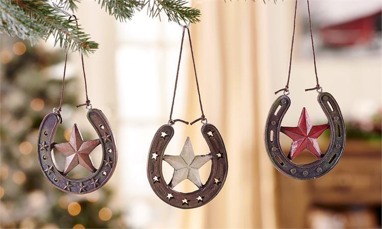 Giftcraft Inc. Ornament - Horse Shoe - 2.8x0.4x2.5(in)