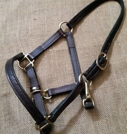 Lamprey Leather Halter brown pony/foal