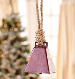 Giftcraft Inc. Metal Cowbell Design Ornament