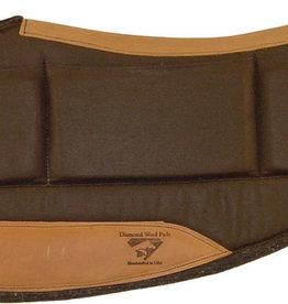 "Diamond Wool Contoured Relief Barrel Pad - 30""x30""x1/2"""