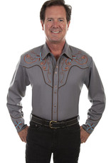 Scully Leather Men's Scully Scroll & Cross Embroidered Western Shirt