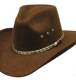 WEX WEX Faux Felt Pinch Front Brown Hat