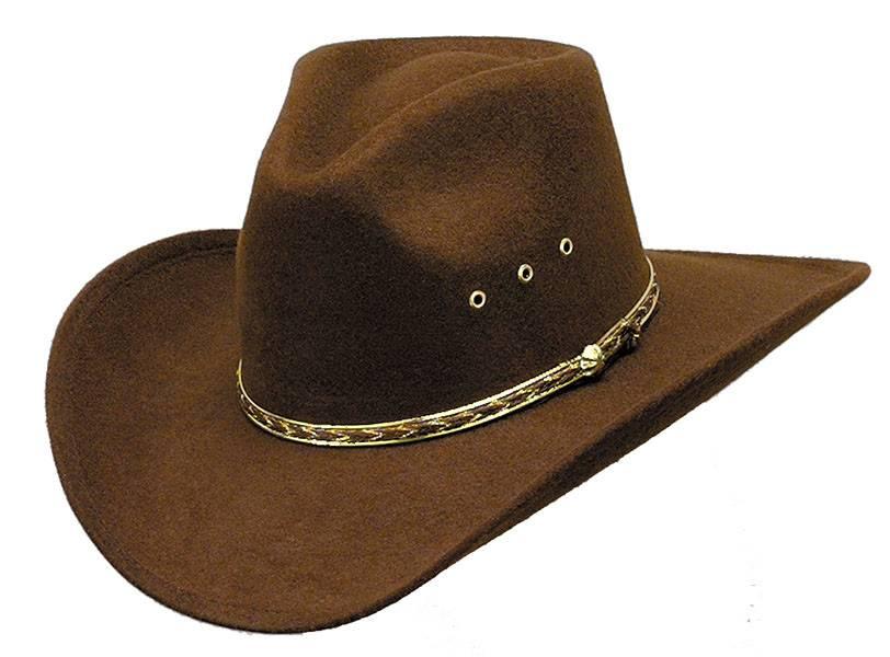 132f2f65eb1 WEX Faux Felt Pinch Front Brown Hat - Gass Horse Supply   Western Wear