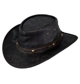 Outback Outback Iron Bark Leather Hat