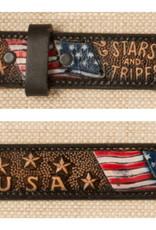 Adult - Stars & Stripes U.S.A. Leather Belt