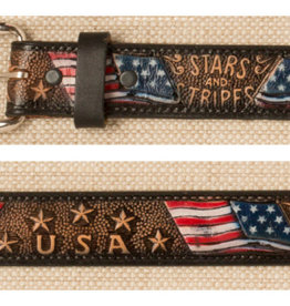 Adult - Stars & Stripes U.S.A. Leather Belt