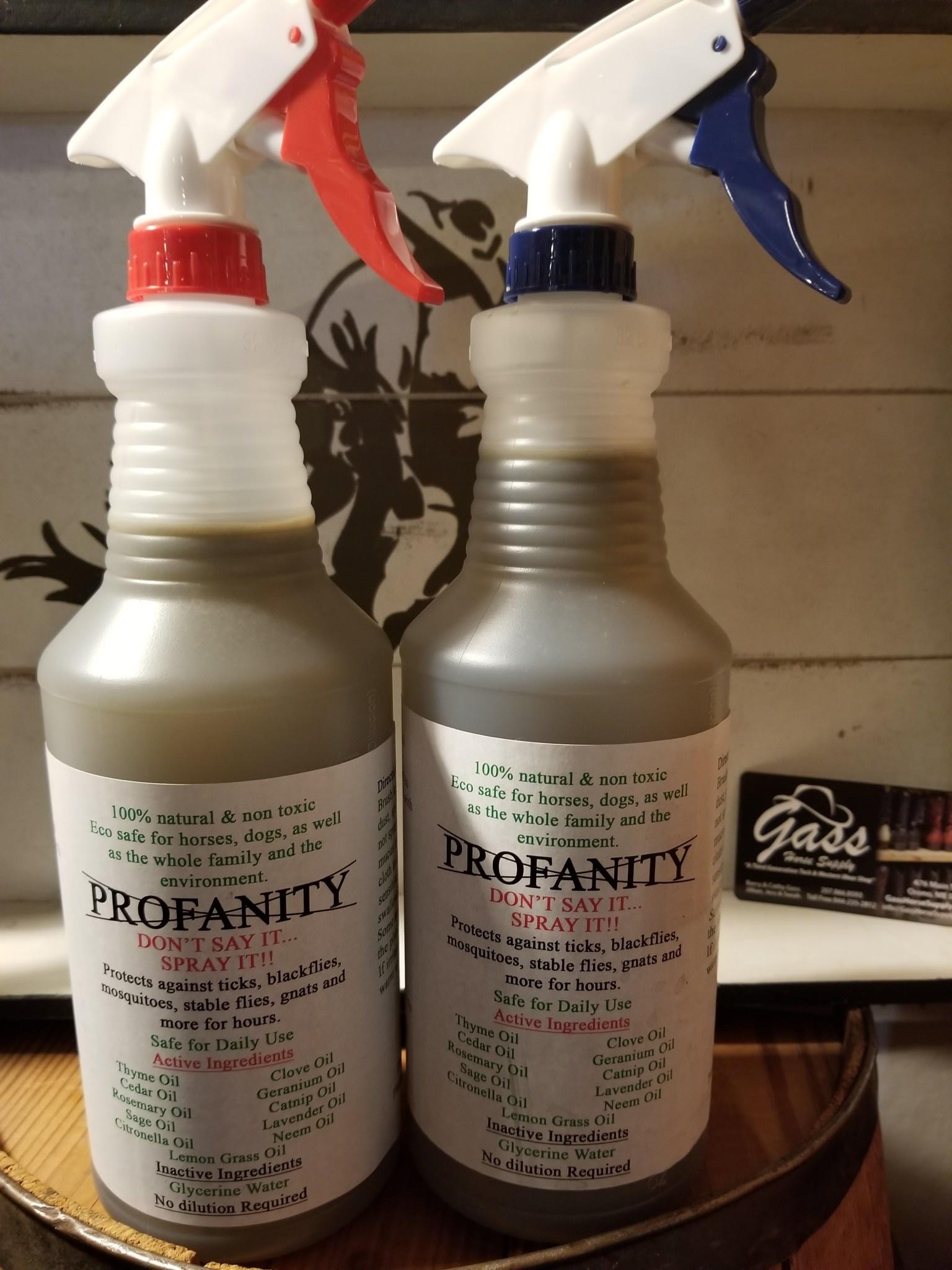 Woodfield Farm Profanity All Natural Fly Spray - 32OZ