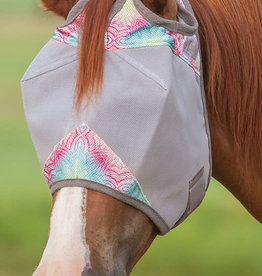 Cashel Crusader Fly Mask without Ears - Multi Henna Small Horse/Cob