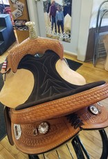 "Nash Saddlery 15"" Reg Tree  Nash Taylor Barrel Saddle"