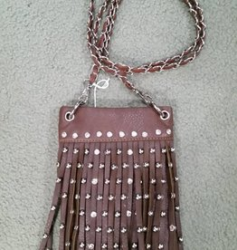 Lamprey Handbag - Small Fringe Brown