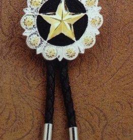 Bolo Tie - Black w/ Star