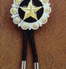 M & F Bolo Tie - Black w/ Star