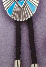 Bolo Tie - Southwestern Oval Concho Turquoise Stone