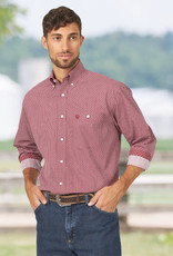Wrangler Men's Wranger George Strait One Pocket Shirt - Red/Black