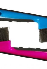 Showman Brush Hoof Pick with Grip - Assorted Colors